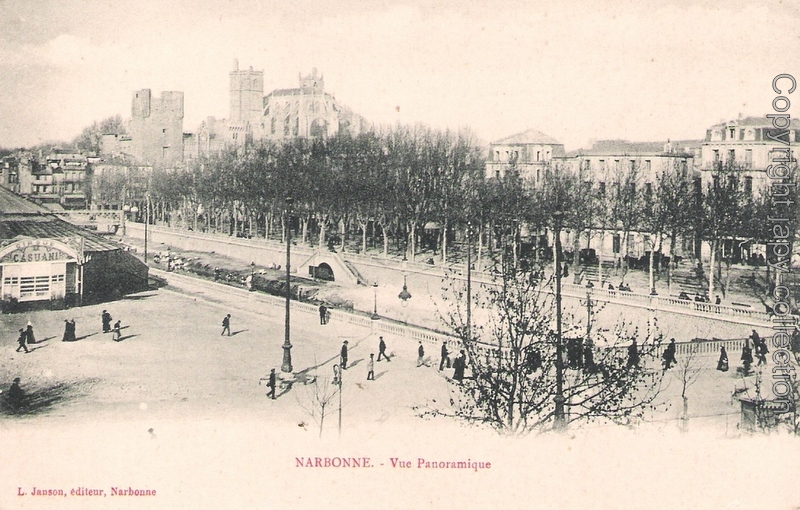 Narbonne.- Vue panoramique