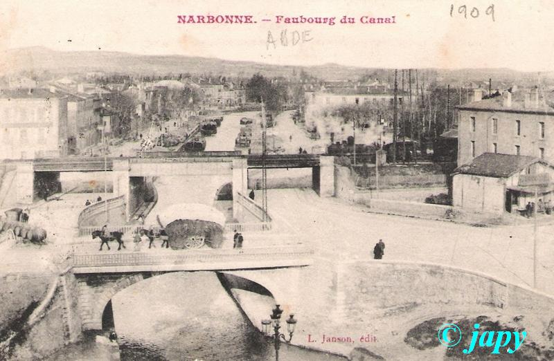 Narbonne- Faubourg du canal